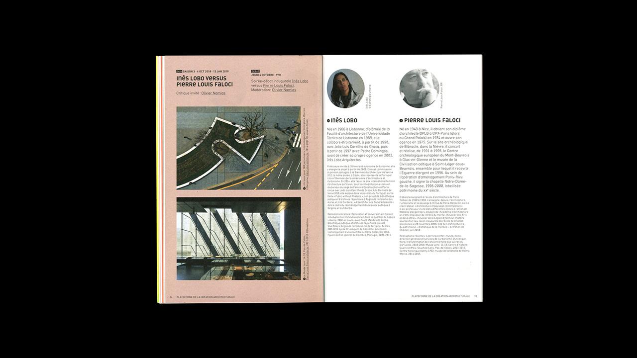 Studio Fire Work, Cité de l'architecture et du patrimoine de Paris, plateforme de la création architecturale, édition