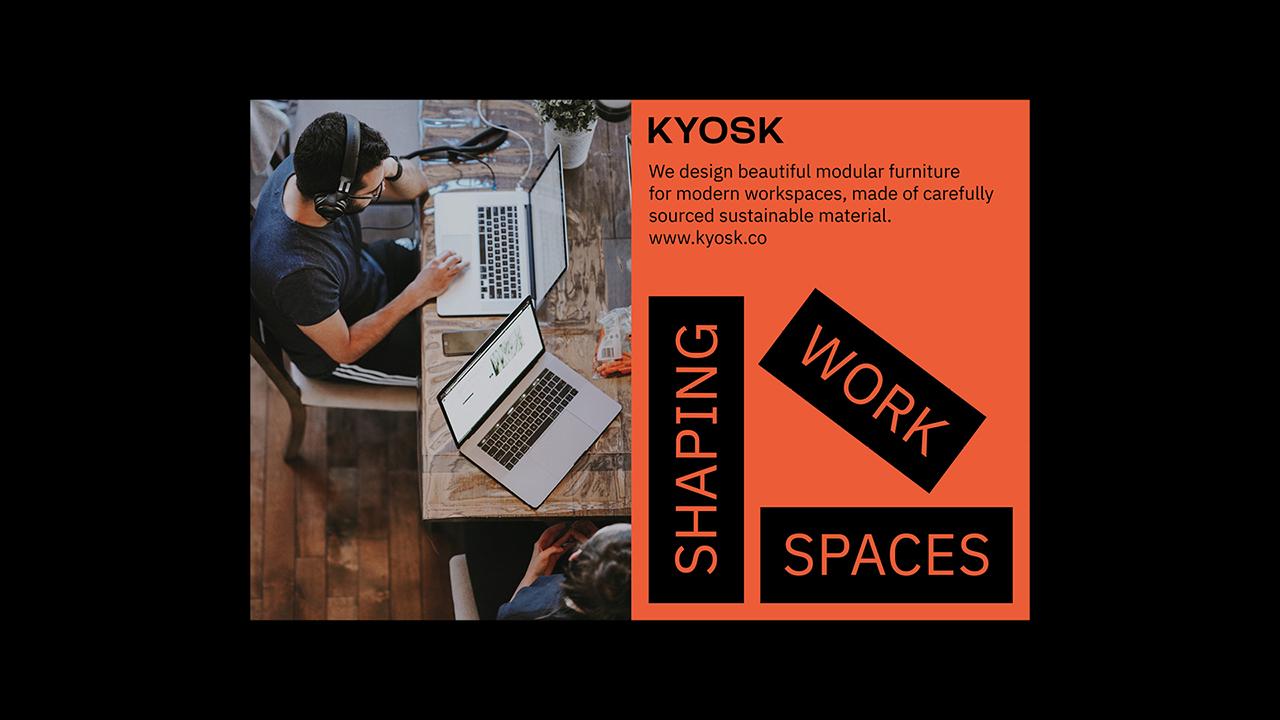Studio Fire Work, projet Kyosk, campagne de publicité