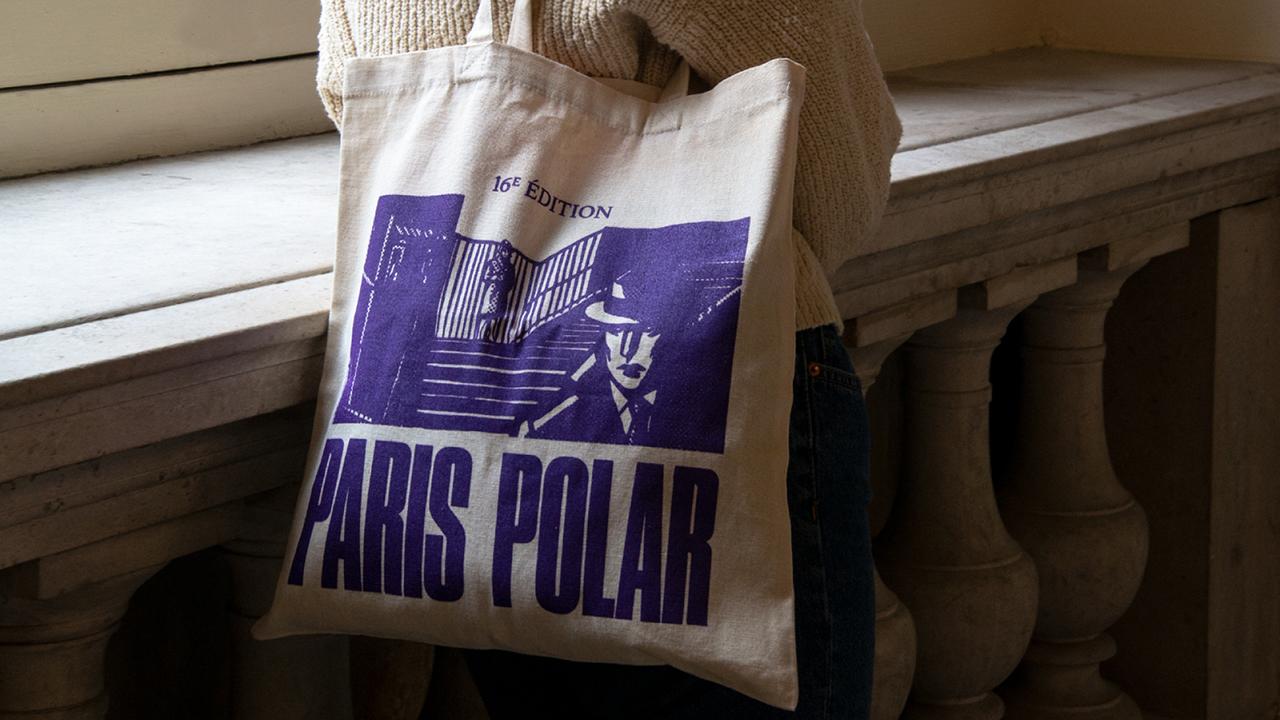 Studio Fire Work, projet festival Paris Polar, mairie du 13e arrondissement de Paris, tote bag