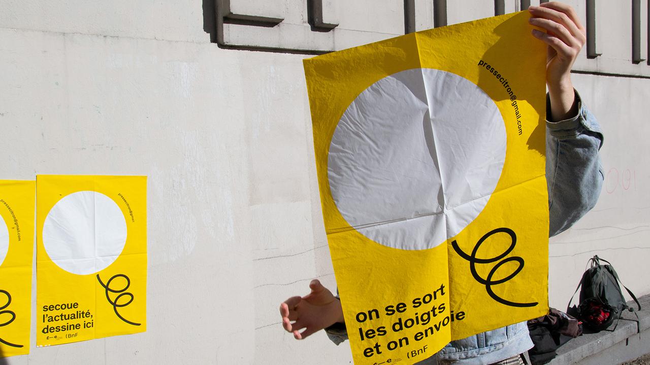 Studio Fire Work, Festival presse Citron, école Estienne, partenariat Bibliothèque Nationale de France, Affiches